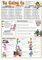 English Worksheet: Be Going to