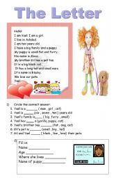 English Worksheets: the letter