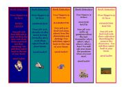 English Worksheets: Book Detective Bookmarks for P2 and P3