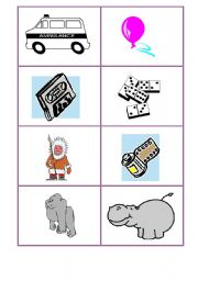 English Worksheet: A Game: ABC Cognates Pictures