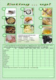 English Worksheets: eating ...up
