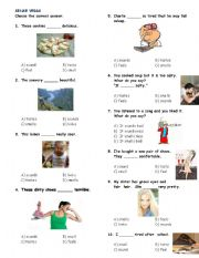 English Worksheets: Sense verbs