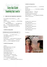 English Worksheets: GOTYE
