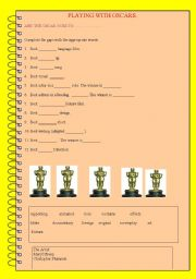 English Worksheet: And the oscars go to...