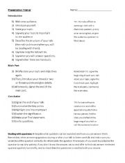 English Worksheets: Presentation Trainer