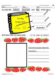 English Worksheets: The Big Hungry Bear