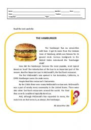 The hamburger food