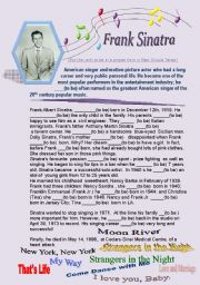 English Worksheet: Frank Sinatra