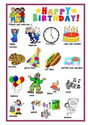 English Worksheet: Invitation to a birthday party