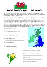 English Worksheets: Saint David�s Day