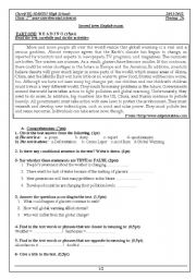 English Worksheets: global warning 2