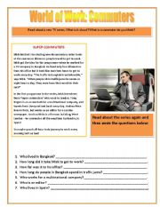 English Worksheet: World of Work: Reading Comprehension