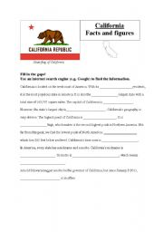 California Map Worksheet with Latitude and Longitude by Michelle Lee