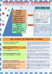 English Worksheet: Usage for Frequency Adverbs