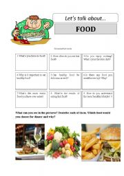 Let´s talk about FOOD - conversation cards