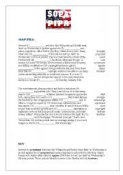 English Worksheets: SOPA (Stop Online Piracy Act) GAP Fill