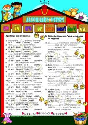 Am Is Are Or Do Does Don T Doesn T Printable Version Key Included Esl Worksheet By Lady Gargara