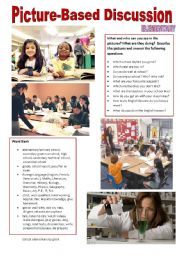 English Worksheet: Picture-based discussion Elementary - (04) School