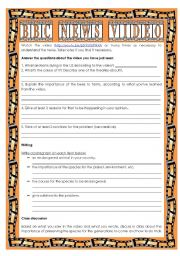 English Worksheet: BBC News video - endangered species ***editable