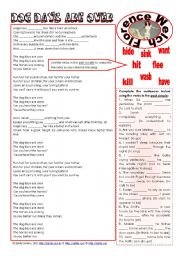 English Worksheets: Dog days are over (Florence Welch) - listening + grammar ***editable