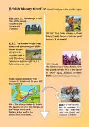 English Worksheet: British History Timeline