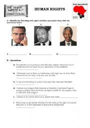 Worksheet song Same love by Macklemore/Human rights worksheet ...