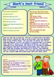 English Worksheets: Reading Comprehension passage