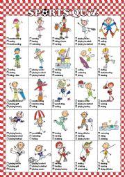 English Worksheet: Sports quiz