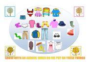 English Worksheet: Clothes and seasons