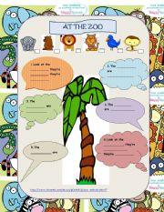 English Worksheets: At the ZOO - song