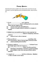 English Worksheets: Funny Quotes