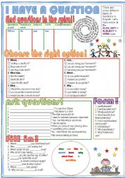 English Worksheets: I have a question!