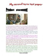 English Worksheets: Product Placement in Flms