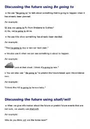 English worksheet: Discussing the future