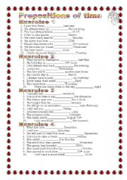 English Worksheet: Grammar from A to Z Prepositions of time (12-25)