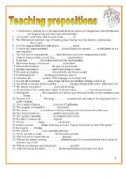 English Worksheet: 9 pages/366 sentences to teach dependent prepositions.