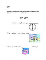 English Worksheets: My Day!