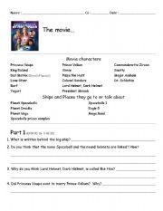 English Worksheets: Spaceballs movie