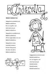 English Worksheet: Cinderella 1 of 3