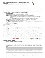 English Worksheets: Mark Haddon: The Curious Incident of the Dog in the Night-Time