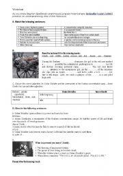 English Worksheets: worksheet about the film oscar shindler