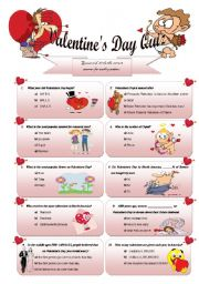 English Worksheet: Valentine´s Day Quiz