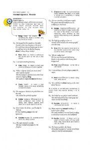 English Worksheets: Onomatopoeic Words