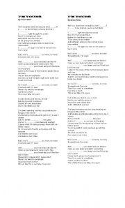 English worksheet: I´m Yours By Jason Marz
