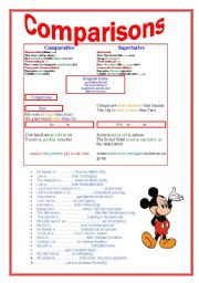 English worksheet: ADJECTIVES -superlative and comparative forms