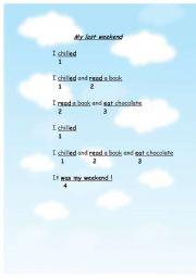 English Worksheets: My last weekend
