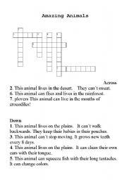 English Worksheets: Animals criss cross
