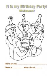 english worksheets it is my birthday party. Black Bedroom Furniture Sets. Home Design Ideas