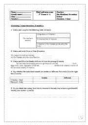 1st form 3rd mid term exam