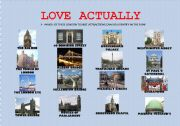 """LOVE ACTUALLY"" LONDON TOURIST ATTRACTIONS. MOVIE WORKSHEET"